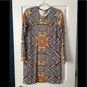 Mara Hoffman Kaleidoscope long sleeve minidress